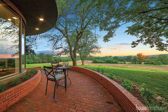 Patio comes with an expansive view