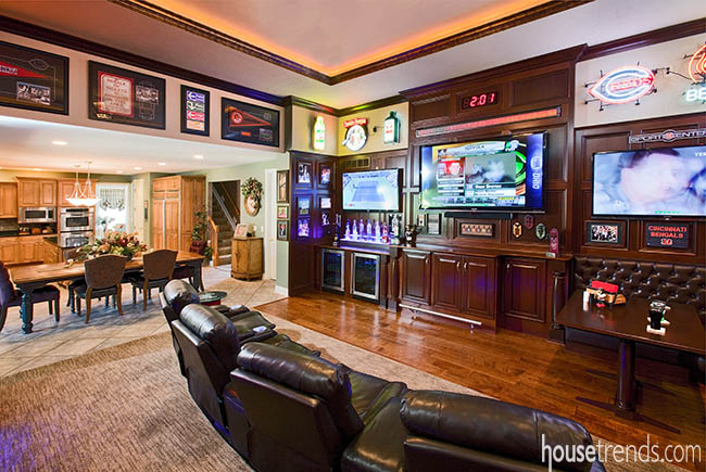 Tvs complete this sports-themed room