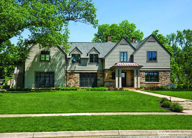 Tudor style home gets a fresh facade