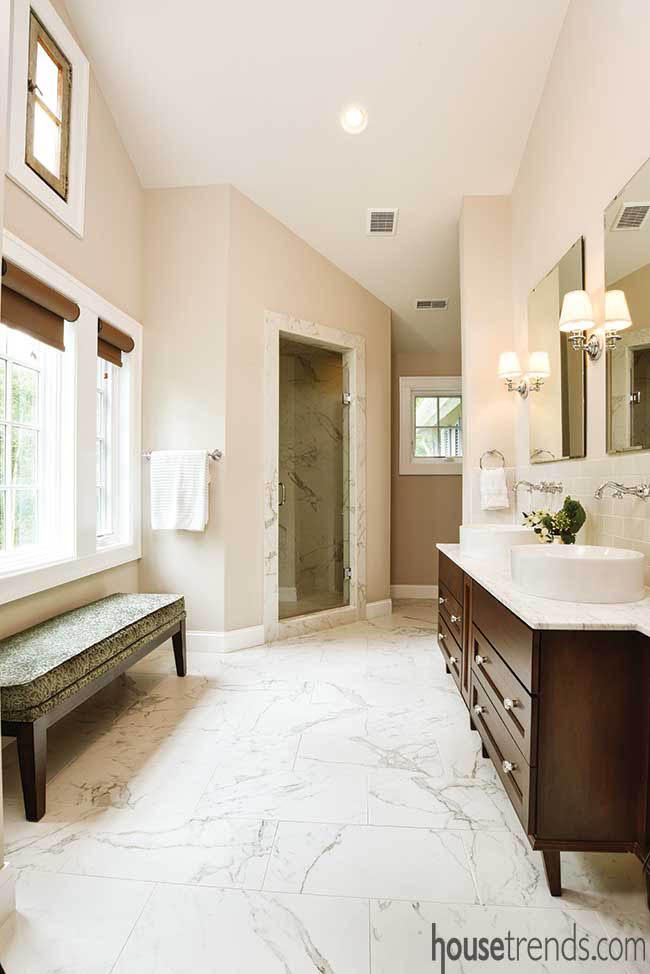 Bathroom window survives a remodel