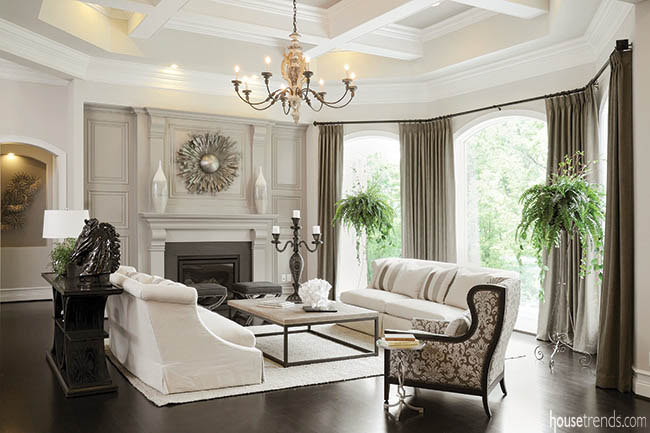 Gray living room creates a soothing retreat