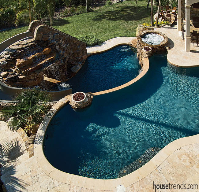 Swimming pools offer variety