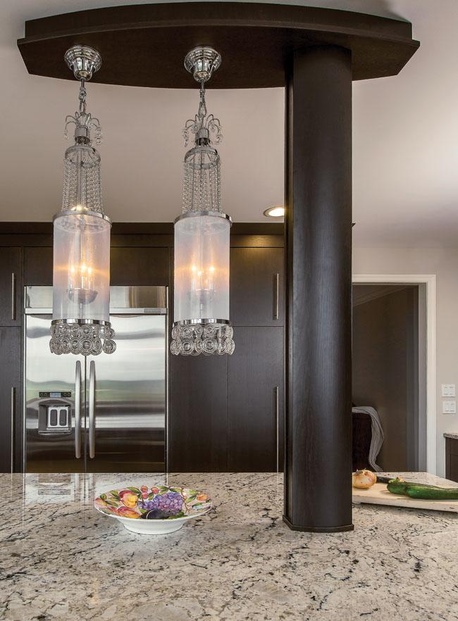 Kitchen lighting fixture hides a secret