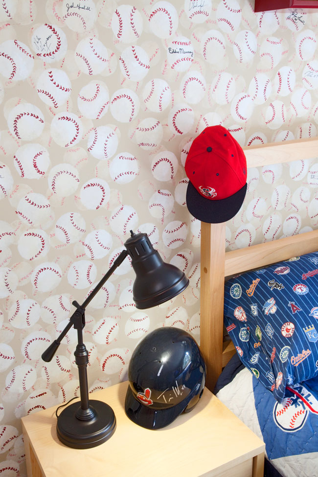 Boys room design shows the love of the game