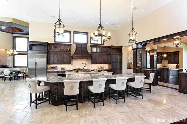 Custom plans include two kitchen islands