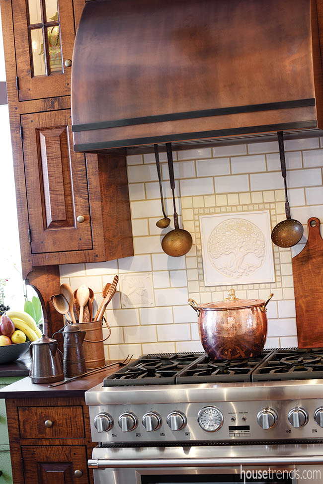 Subway tile creates a classic look in a kitchen design