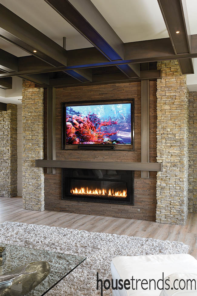 Fireplace gets a dramatic surround
