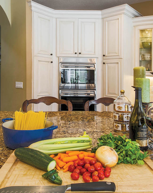 Kitchen cabinetry gets a weathered look
