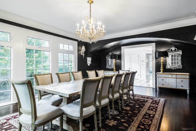 Formal dining room seats a crowd