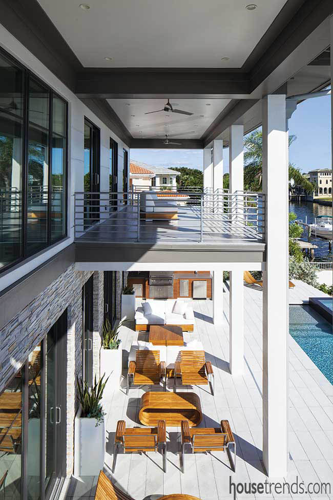Balcony comes with a water view