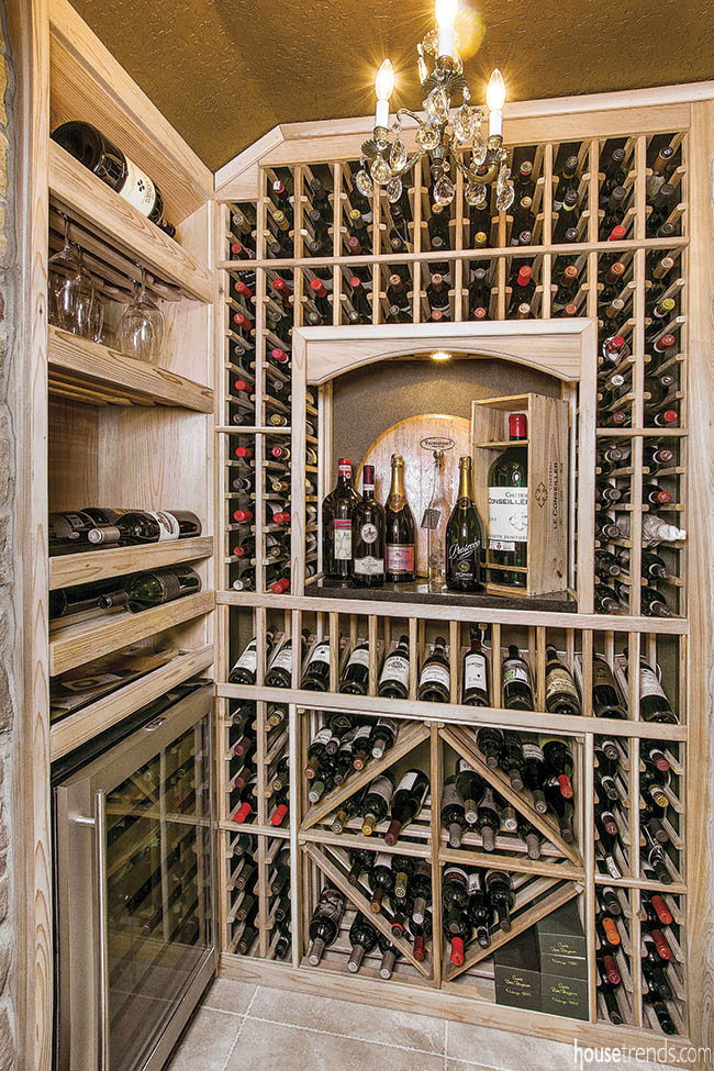 Home wine racks keep wine close at hand