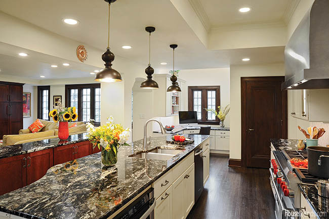 Countertops add color to a kitchen design