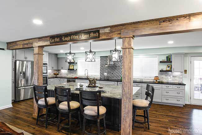 Remodeled kitchen with rustic elements