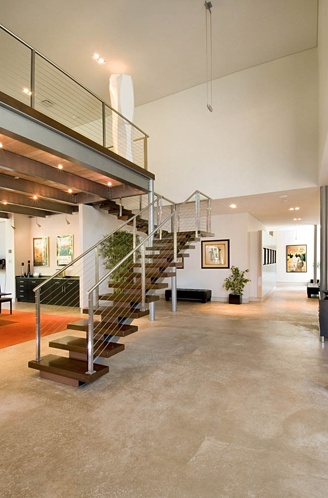 Staircase strays away from traditional design ideas