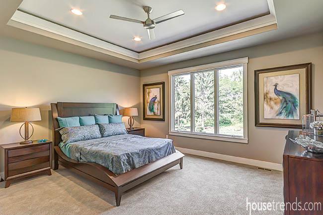 Unique details run through a bedroom design