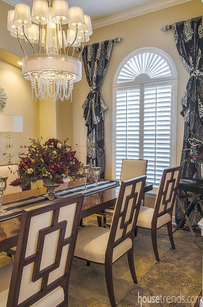 Dining room chandelier adds whimsy