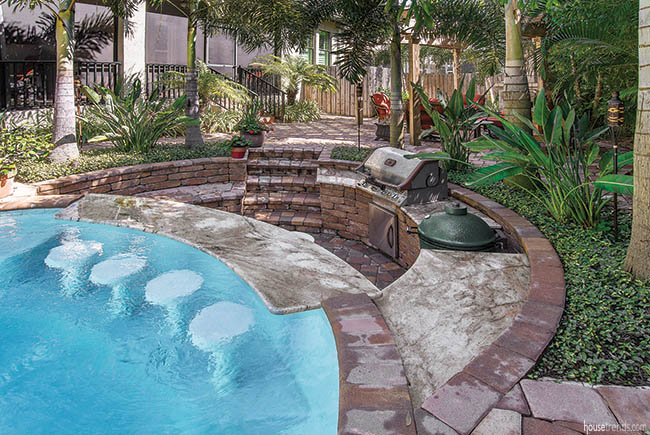 Outdoor living space is a work of art
