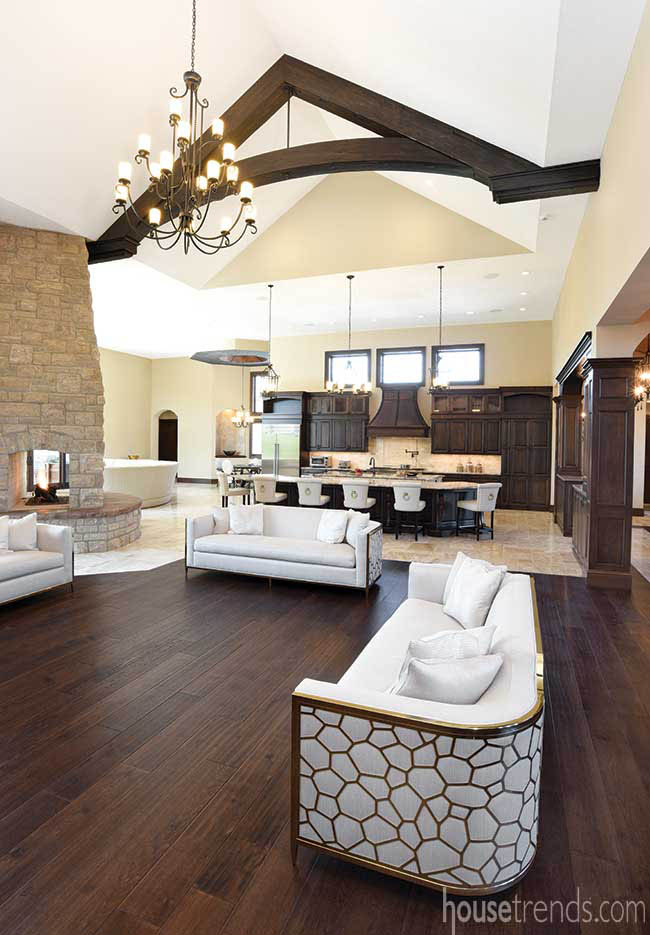 Ceilings add dimensions to an open floor plan