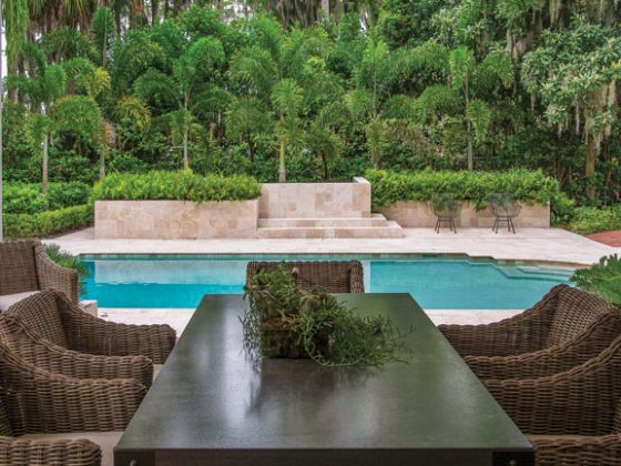 Outdoor furniture offers the best seat in the house