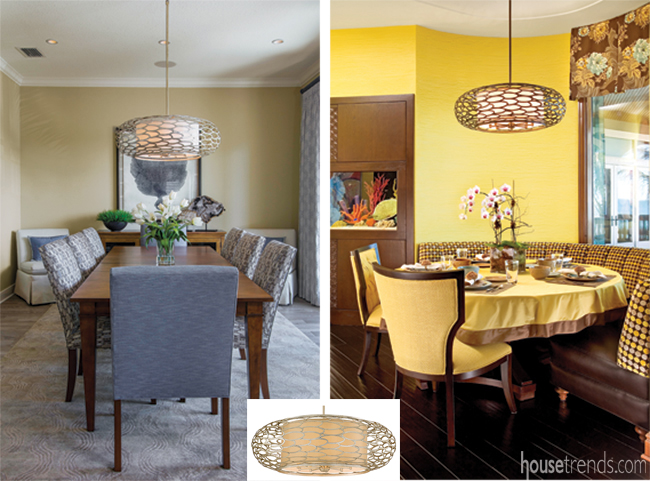 Two Tampa homes with same chandelier