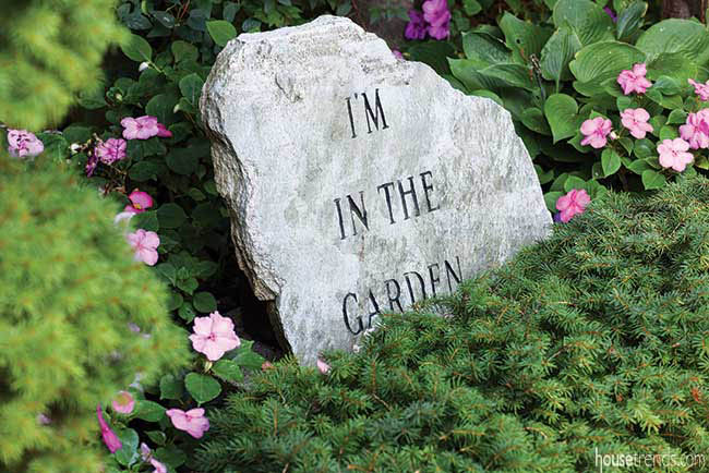 Garden features quirky statuary