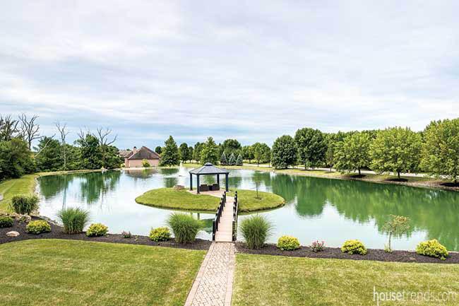 Pond dominates a back yard