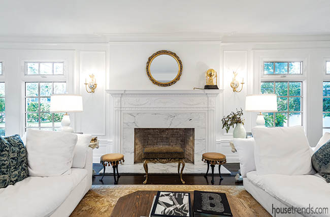 Fireplace reflects home's original look