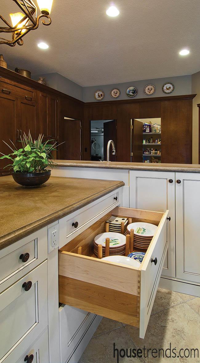 Kitchen island offers abundance of storage