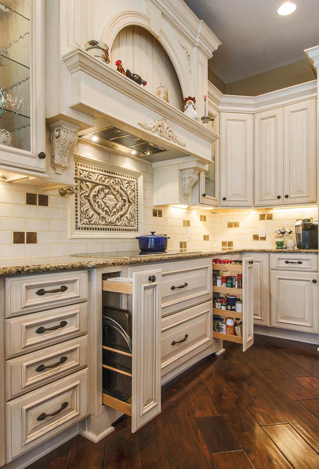 Pullout cabinets make storage easy
