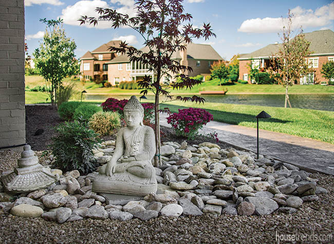 Zen garden adds tranquility to a landscape