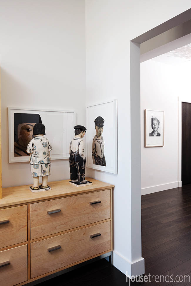 Unique artwork on display in a study