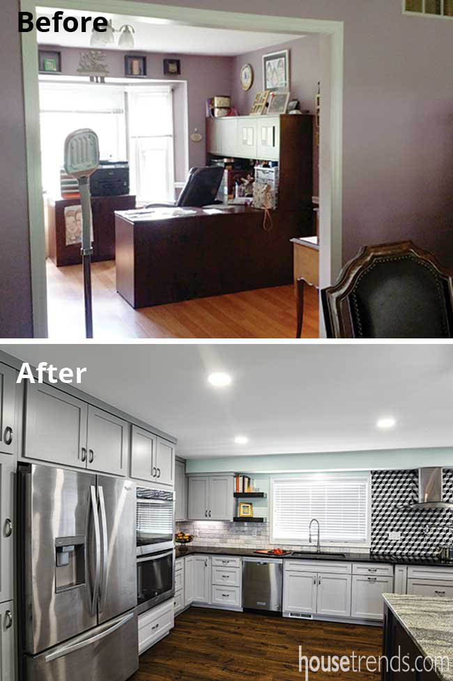 Remodeled kitchen gets more cooking space
