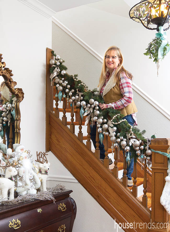Owner decorates her home for the holidays