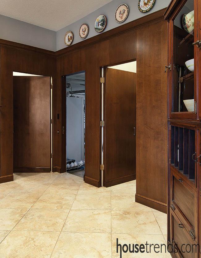Doors blend in to surroundings