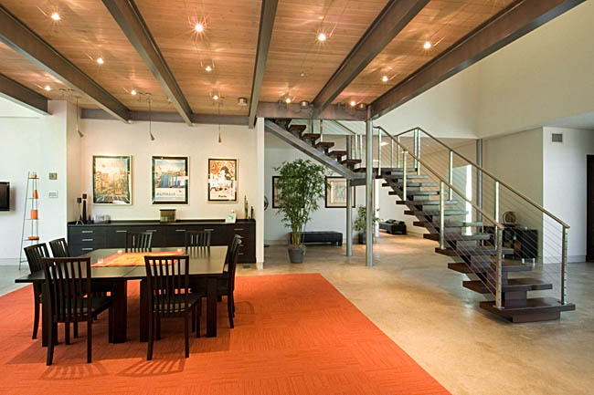 Dining room gets a warm design
