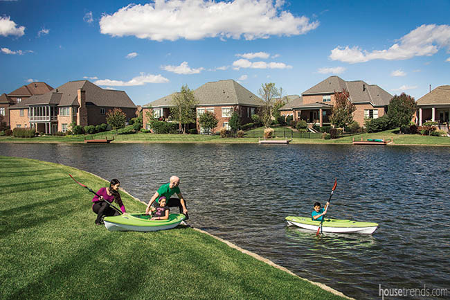 Waterfront location is perfect for an active family