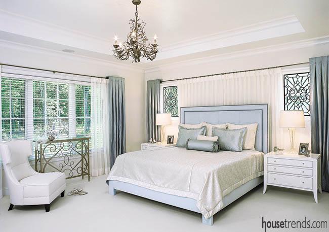 Master bedroom design creates a calming retreat