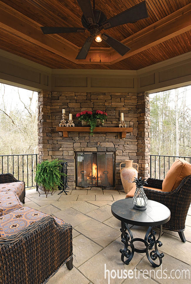 Settle in with this cozy porch