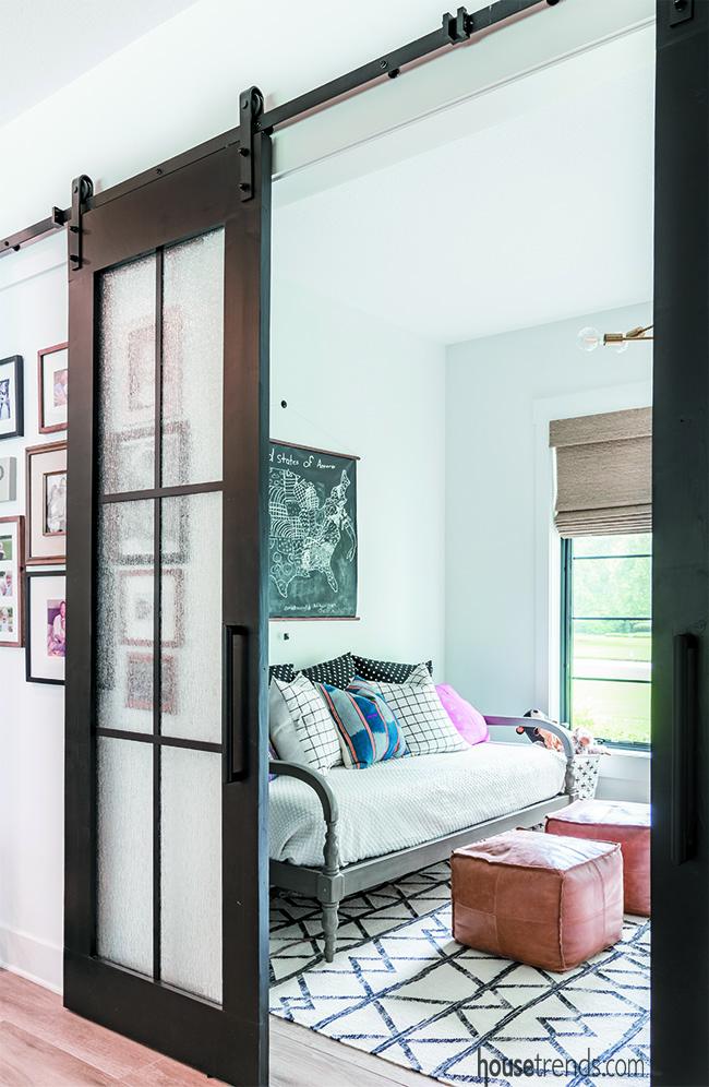 Playroom boasts colorful furniture