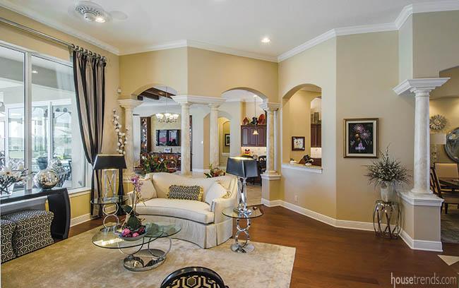 Home's interior boasts elegant archways