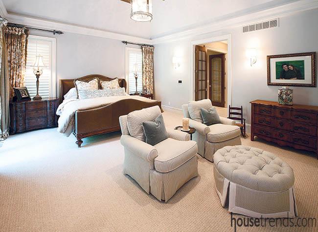 Bedroom design creates personal space