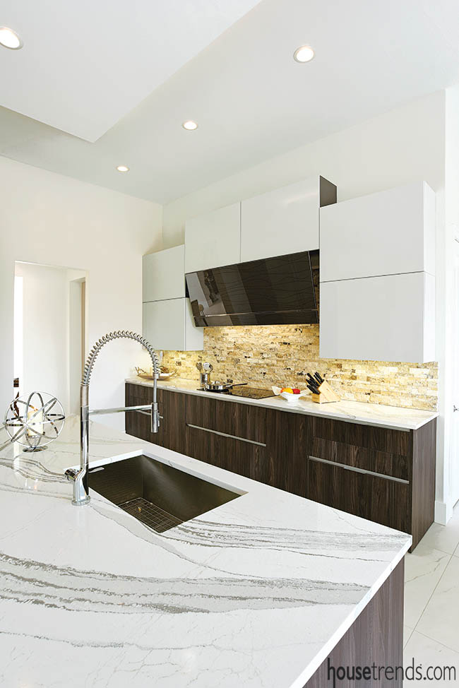 Kitchen countertops offer a soothing vibe