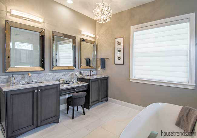 Master bathroom gives off calming vibes