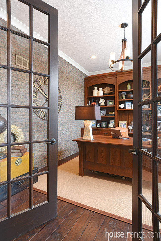 Study boasts built-in bookcases