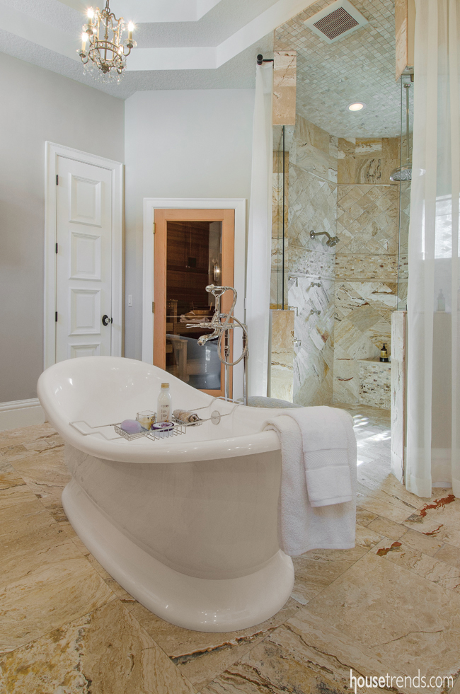Soaking tub offers the ultimate relaxation
