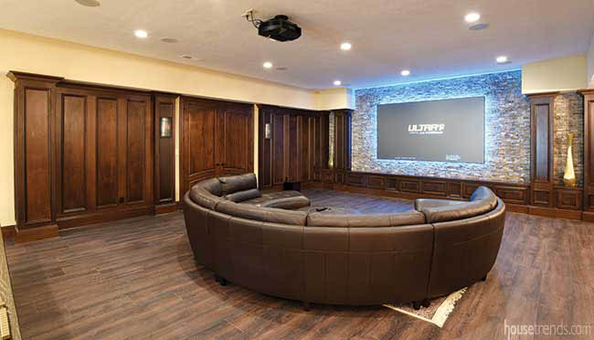Color changing LED light in home theater