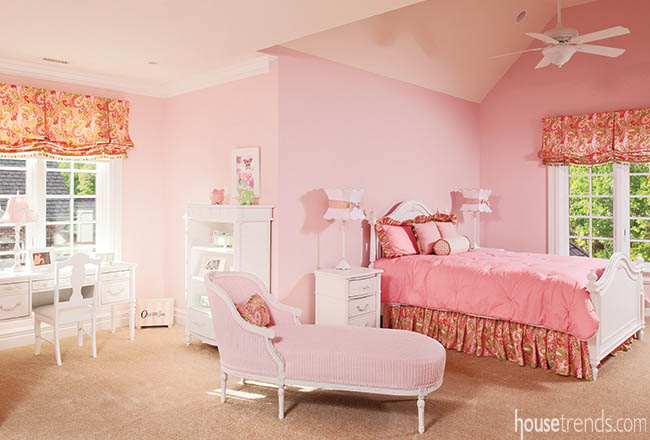 Window treatments for a pink princess