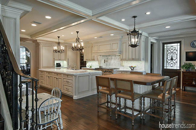 Kitchen islands allow room for food prep and socializing