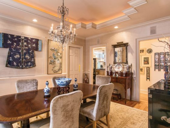 Dining room shows off antique decor