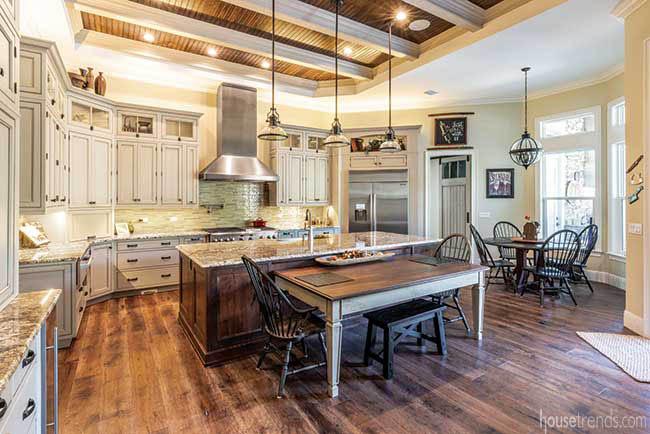 Gorgeous backsplash in a farmhouse-inspired kitchen